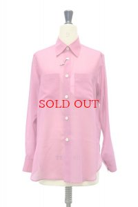 """AURALEE  """"WOOL RECYCLE POLYESTER SHEER CLOTH SHIRT""""【A21SS01RM】col. PURPLE"""