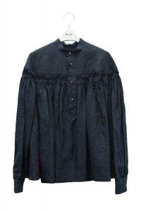 Scye  Linen Pintucked Pullover Blouse  リネン高密度タックシャツ  col.ダークネイビー  ※ Scye オリジナル ハンガー 付き