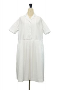 "CASEY CASEY  ""16FR342  T PLEE 1 DRESS - PLEAT3""  col.WHITE"