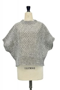 amach. × ROLLOT Paesina Stone Knit Vest col.Green Grey