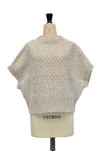amach. × ROLLOT  Paesina Stone Knit Vest  col. White