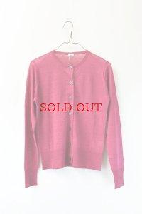 eleven 2nd  Fine Linen Silk  Button Cardigan  col. Raspberry