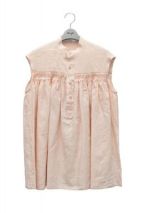 Scye  Linen Pintucked Sleeveless Shirt  リネン高密度タックノースリーブシャツ  col.ペールピンク  ※ Scye オリジナル ハンガー 付き