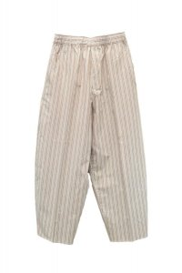 Cristaseya    Japanese Striped Cotton Moroccan Pajama Pants    col.Large Brown Stripes