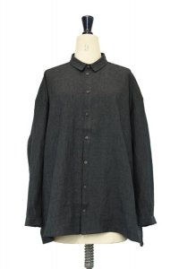 toogood  THE DRAUGHTSMAN SHIRT - LAUNDERED LINEN  col.CHARCOAL