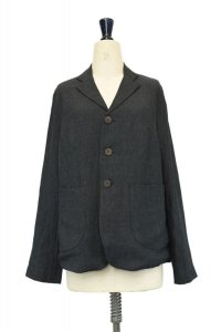toogood  THE METALWORKER JACKET - LAUNDERED LINEN  col.CHARCOAL