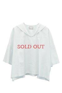 humoresque   sailor collar  blouse  col. mint