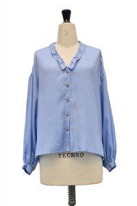 humoresque   chelsea collar blouse  col.saxe blue
