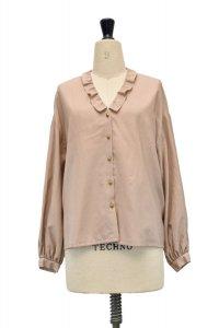 humoresque   chelsea collar blouse  col.beige