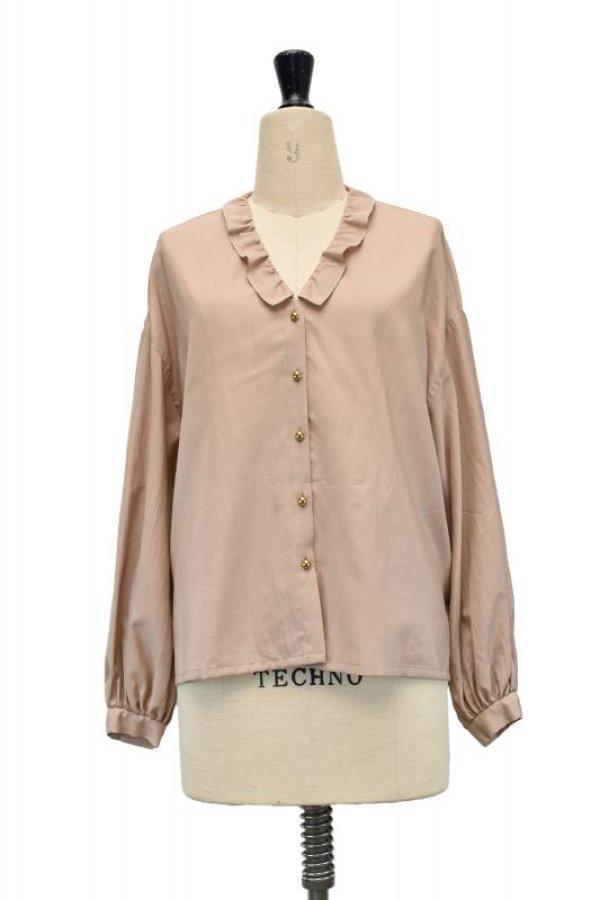 画像1: humoresque   chelsea collar blouse  col.beige